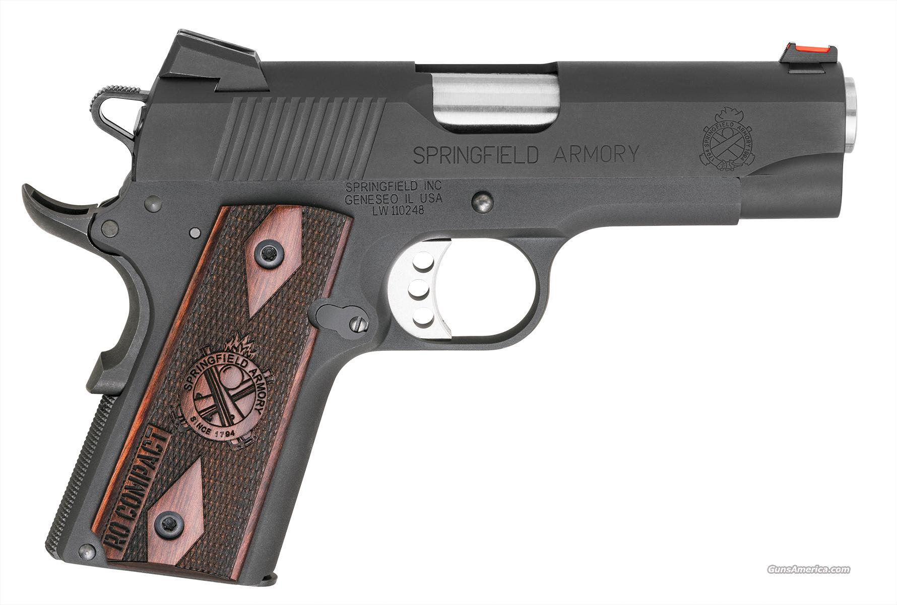 "Springfield Compact Range Officer LW 9mm 4"" Fiber Optic *NEW*  Guns > Pistols > Springfield Armory Pistols > 1911 Type"