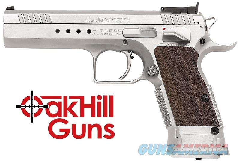 EAA Witness Elite Limited 10mm Tanfoglio 15 Round Hard Chrome *NIB* 600343  Guns > Pistols > EAA Pistols > Other