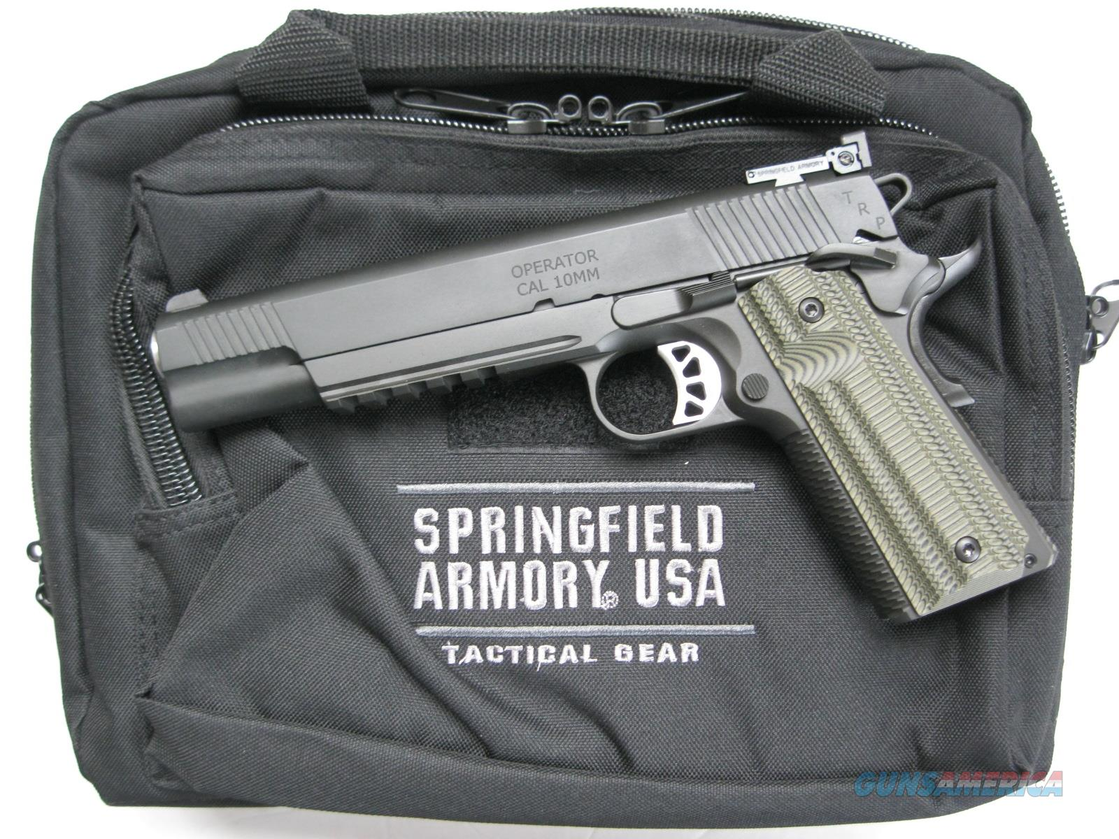 "Springfield TRP Operator 10mm Long Slide 6"" Night Sights Rail PC9610L18 *NEW*  Guns > Pistols > Springfield Armory Pistols > 1911 Type"