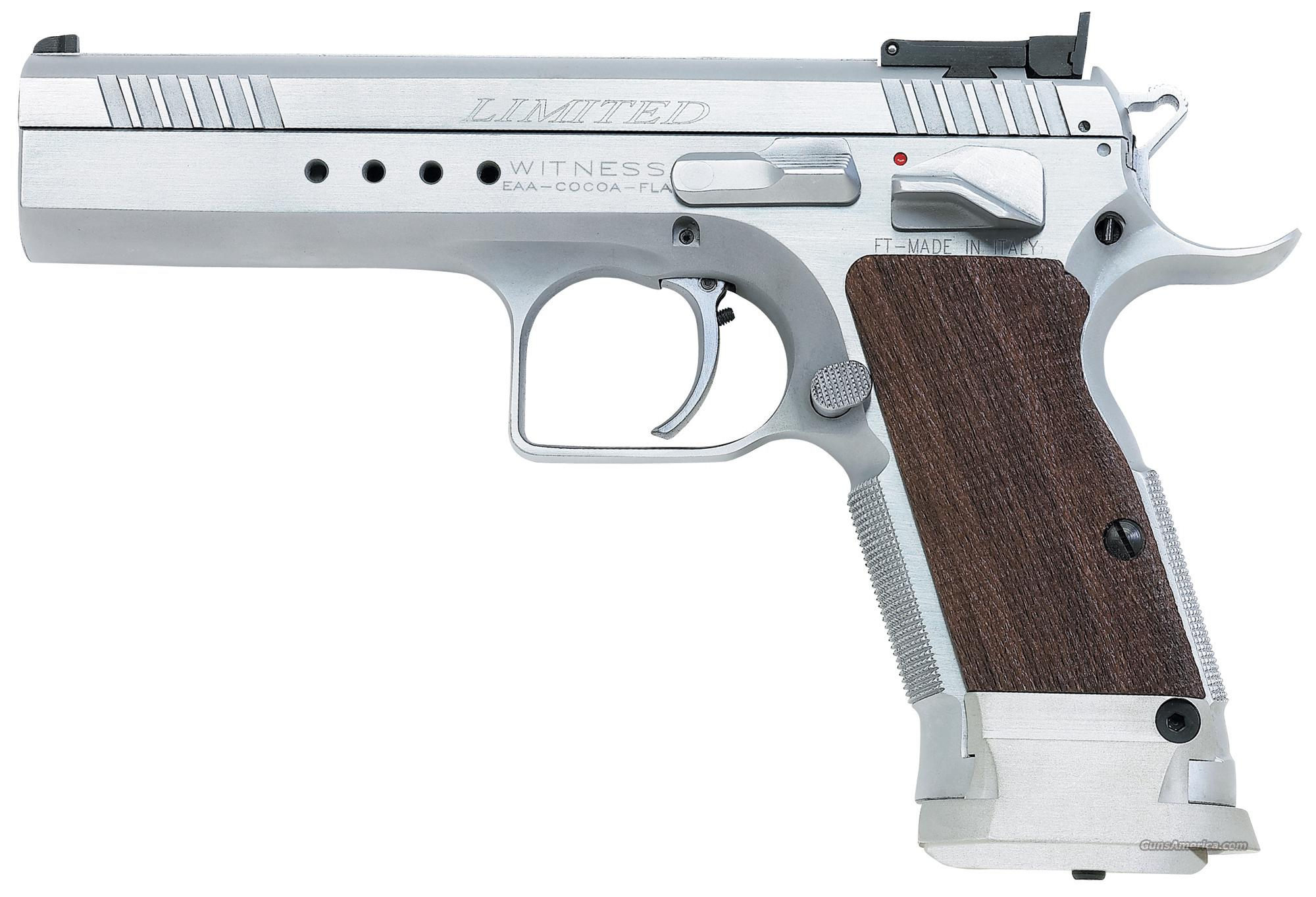 EAA Witness Elite Limited 10mm Tanfoglio 15 Round Hard Chrome *NEW* 600343  Guns > Pistols > EAA Pistols > Other