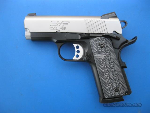 Springfield EMP Bitone .40 S&W *NEW* 1911 Compact G10 Grips PI9241L Gear Pkg  Guns > Pistols > Springfield Armory Pistols > 1911 Type