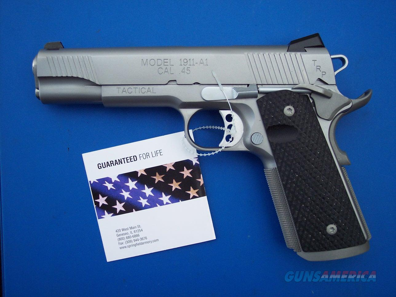 Springfield TRP Tactical 1911 .45 acp Stainless Tactical Response Pistol PC9107L18 *NEW*   Guns > Pistols > Springfield Armory Pistols > 1911 Type