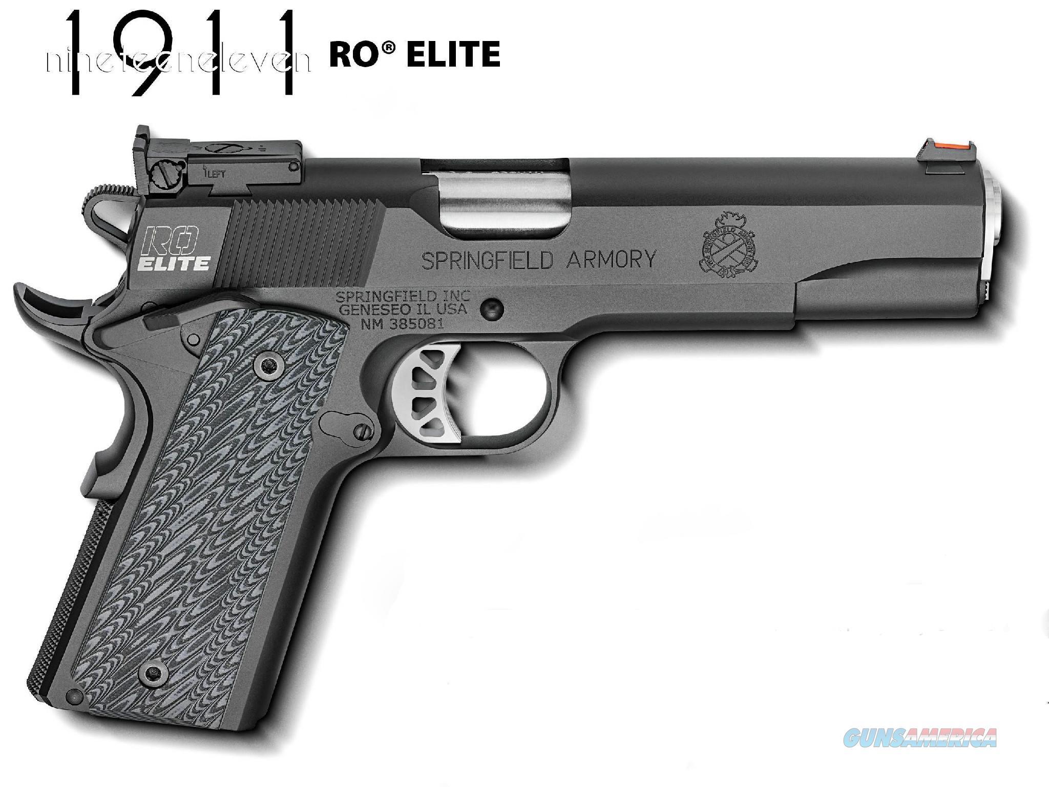 Springfield 1911 RO Elite Target .45 acp FO G10 PI9128ER *NEW* 4 Mags Gear Pkg  Guns > Pistols > Springfield Armory Pistols > 1911 Type