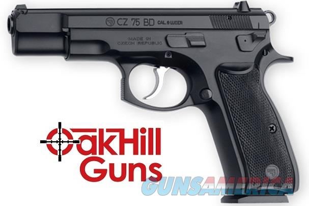 CZ 75BD 9mm Poly Coat 10 Rd Decocker 75 BD 01130 *NEW*  Guns > Pistols > CZ Pistols