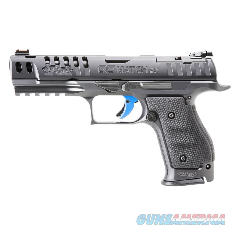 Walther Q5 Match Steel Frame 9mm Optic Ready w/ Target Sights Short Reset *NEW*   Guns > Pistols > Walther Pistols > Post WWII > P5