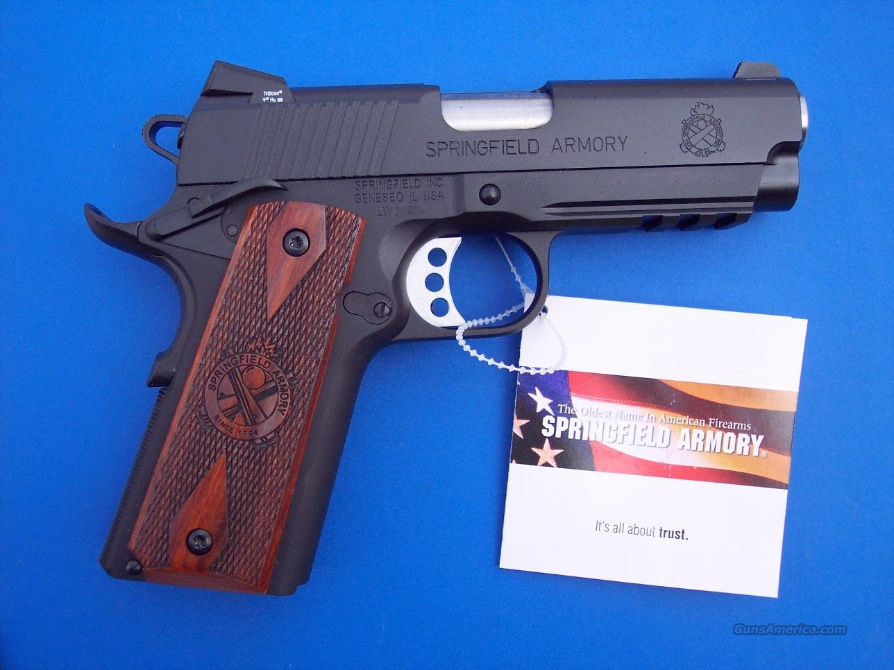 Springfield Champion Operator Lightweight 45 acp *NIB* 1911 Gear Pkg PX9115L PLUS - 4 Extra Mags, Holster and Mag Pouch  Guns > Pistols > Springfield Armory Pistols > 1911 Type