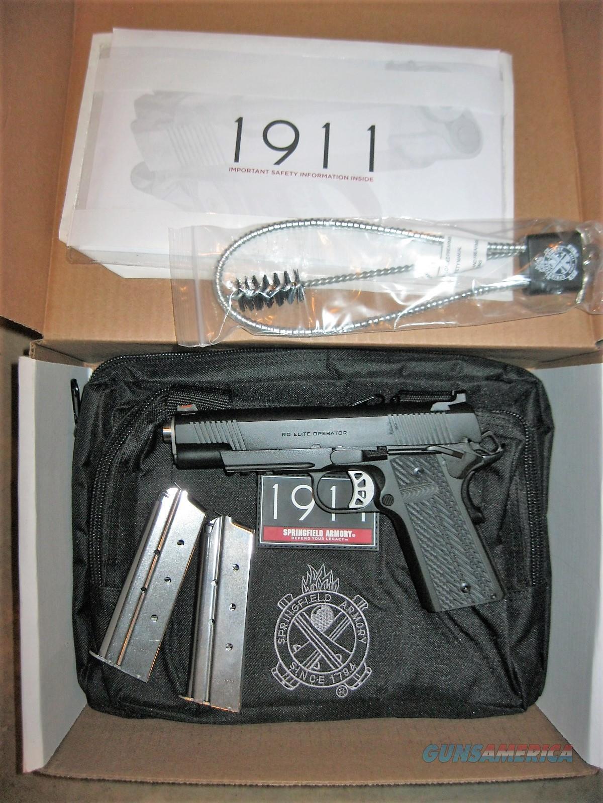 "Springfield 1911 RO Elite Operator 10mm 5"" Range Bag PI9110E *NEW*  Guns > Pistols > Springfield Armory Pistols > 1911 Type"