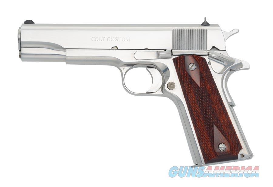 "Colt Custom .38 Super Bright Stainless Government Model 1911 5"" O2071ELC2 *NEW*  Guns > Pistols > Colt Automatic Pistols (1911 & Var)"