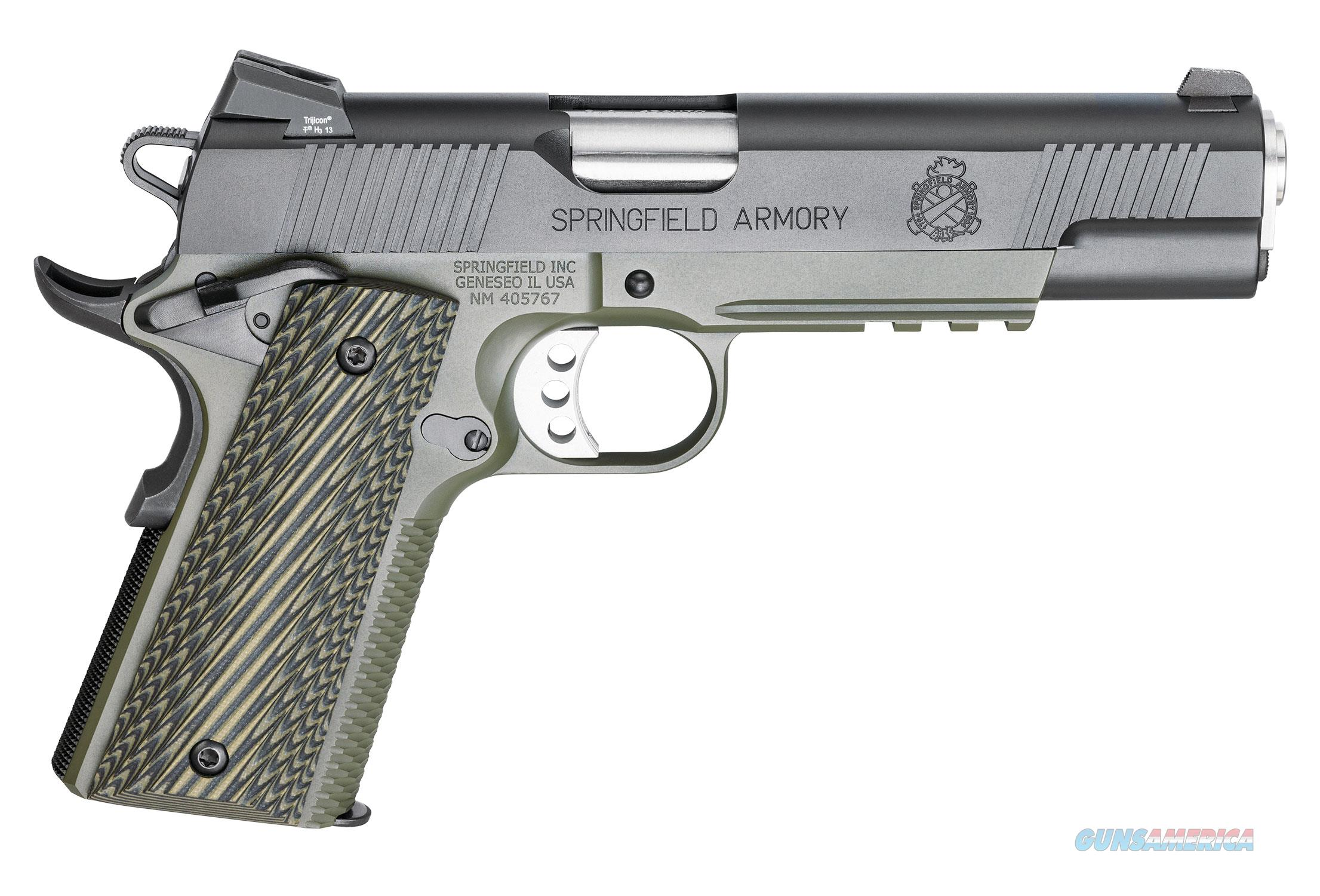 Springfield Marine Corps Operator .45 acp O.D. Green Frame Armory Kote G10 Grips PX9110ML *NEW*   Guns > Pistols > Springfield Armory Pistols > 1911 Type
