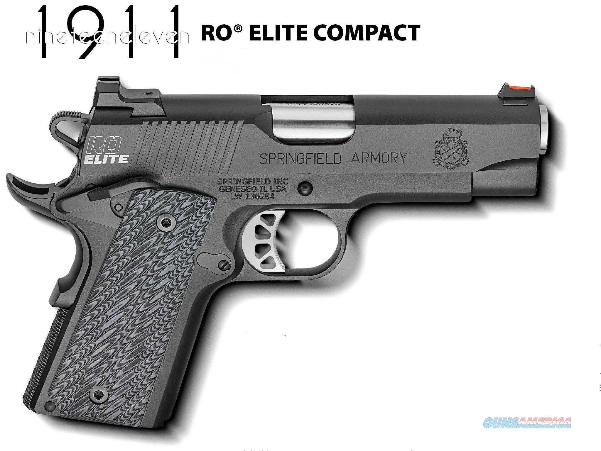 "Springfield 1911 RO Elite Compact 9mm 4"" FO *NEW* PI9125ER  Guns > Pistols > Springfield Armory Pistols > 1911 Type"
