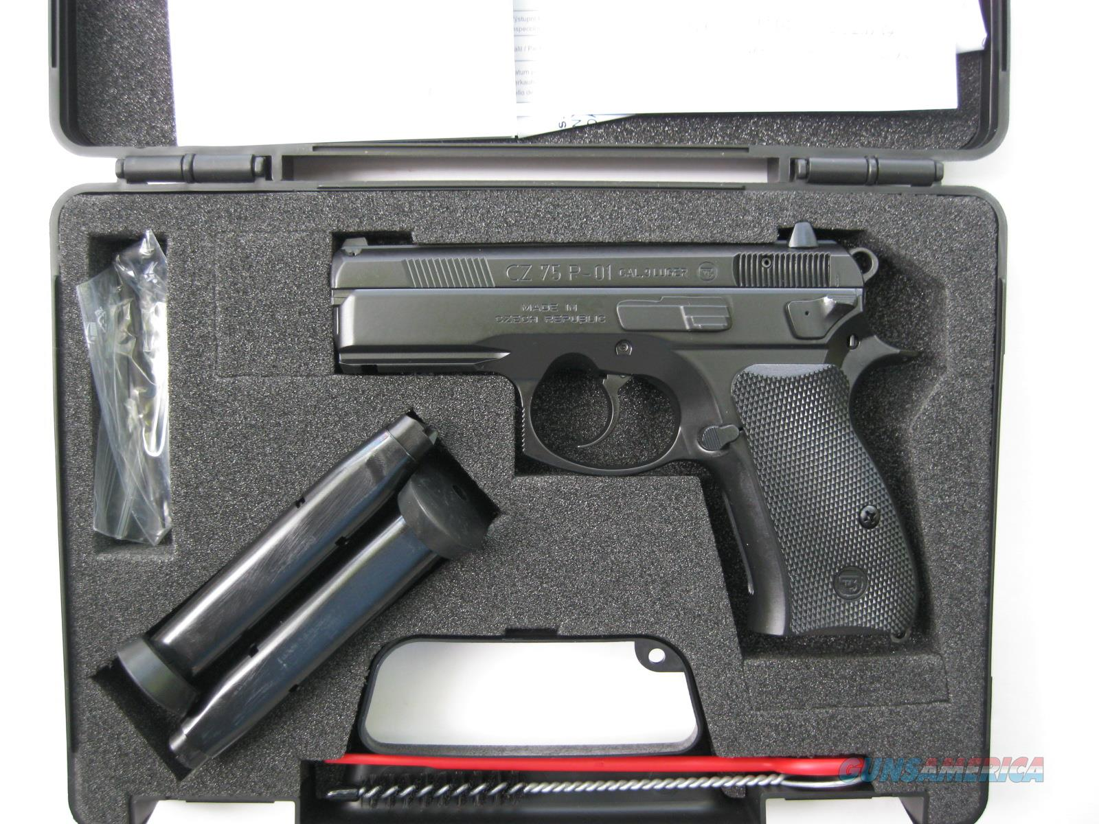 CZ-USA 75 P-01 9mm Compact LW Rail 14 Rd Decocker 91199 *NEW  Guns > Pistols > CZ Pistols