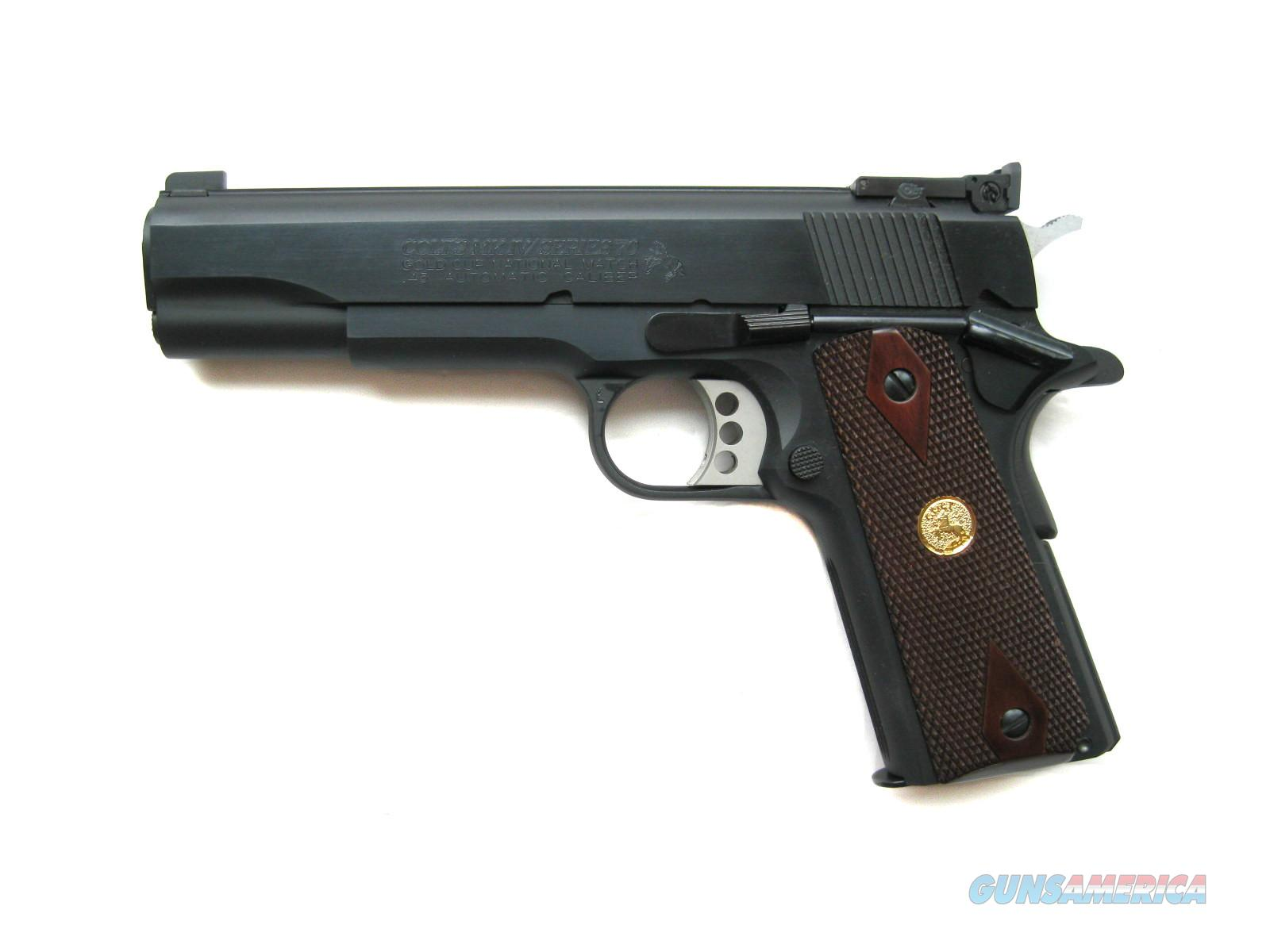 Colt Gold Cup National Match 1911 .45 acp 70 Series O5870A1 *NEW*  Guns > Pistols > Colt Automatic Pistols (1911 & Var)