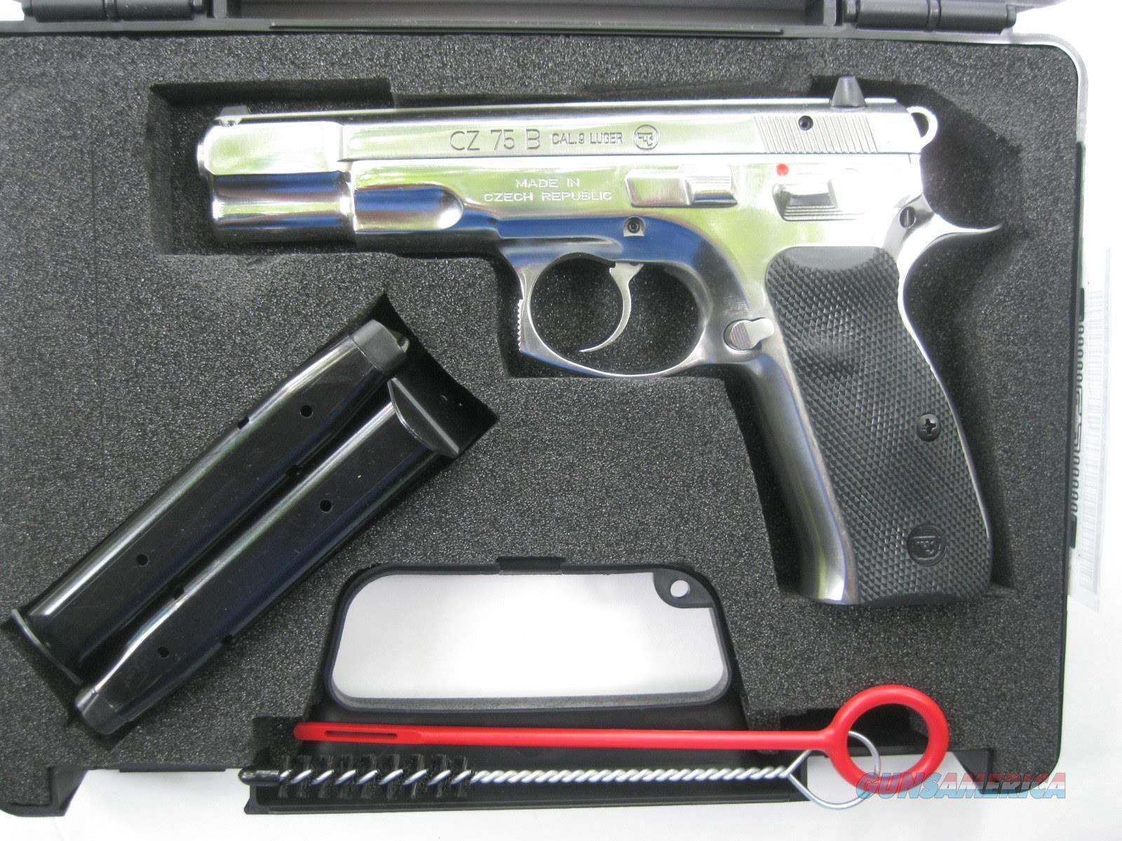 CZ 75B 9mm High Polished Stainless 10 Rd 01108 *NIB*  Guns > Pistols > CZ Pistols