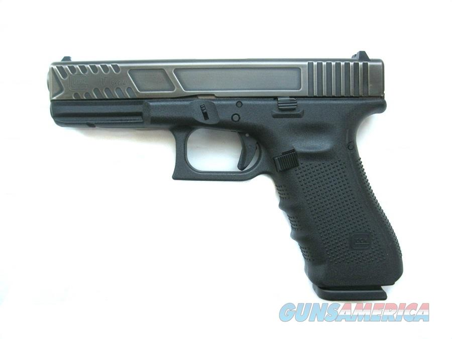 Glock 17 Gen 4 BATTLE WORN CUSTOM 9mm 3 - 17 Rd Mags NIBONE Finish Custom Slide Cuts *NEW*  Guns > Pistols > Glock Pistols > 17