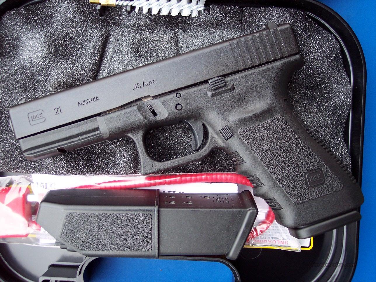 Glock 21 SF 45 acp Short Frame 13 Round Mags 21SF  NIB  Guns > Pistols > Glock Pistols > 20/21