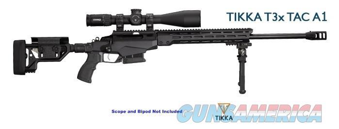 """Tikka T3X TAC A-1 6.5 Creedmoor Modular Folding Chassis Precision Rifle 24"""" Threaded Barrel JRTAC382L *NEW*  Guns > Rifles > Tikka Rifles > T3"""