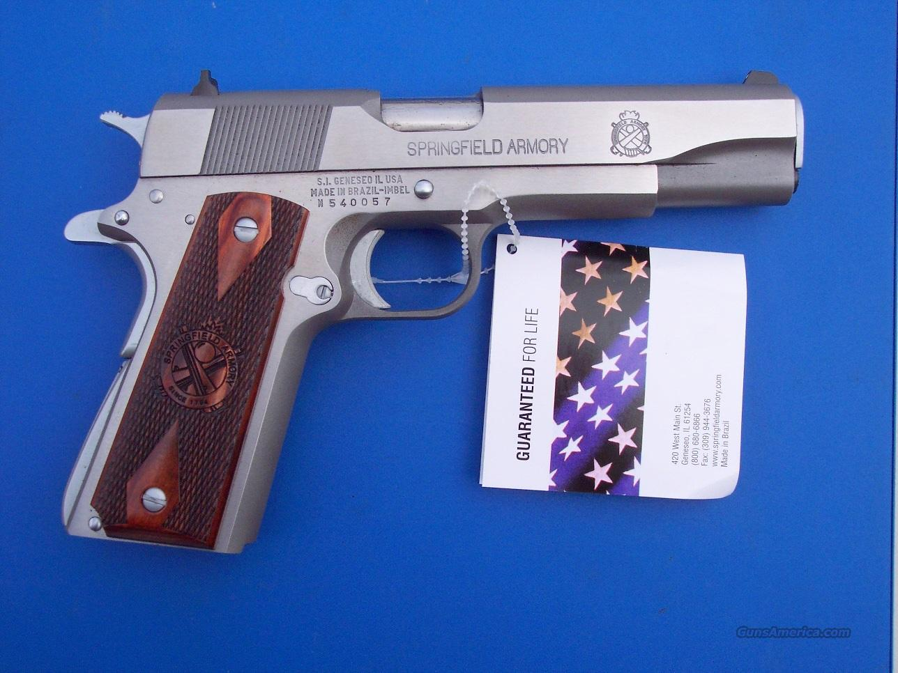 Springfield Armory 1911 Stainless Mil Spec Gear Pkg NEW  Guns > Pistols > Springfield Armory Pistols > 1911 Type
