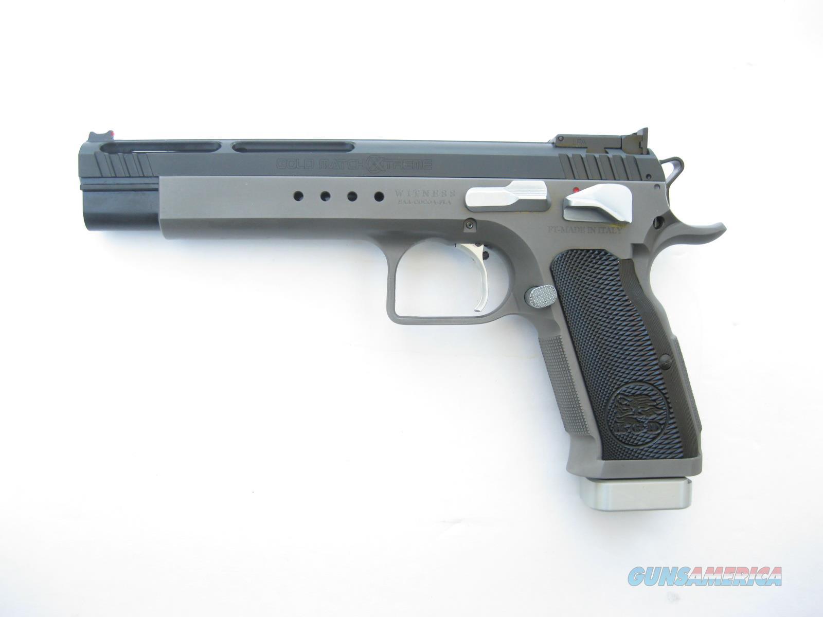 EAA Gold Match XTREME 9mm Longslide Tanfoglio Custom Shop 4 Mags 610660 NIB  Guns > Pistols > EAA Pistols > Other