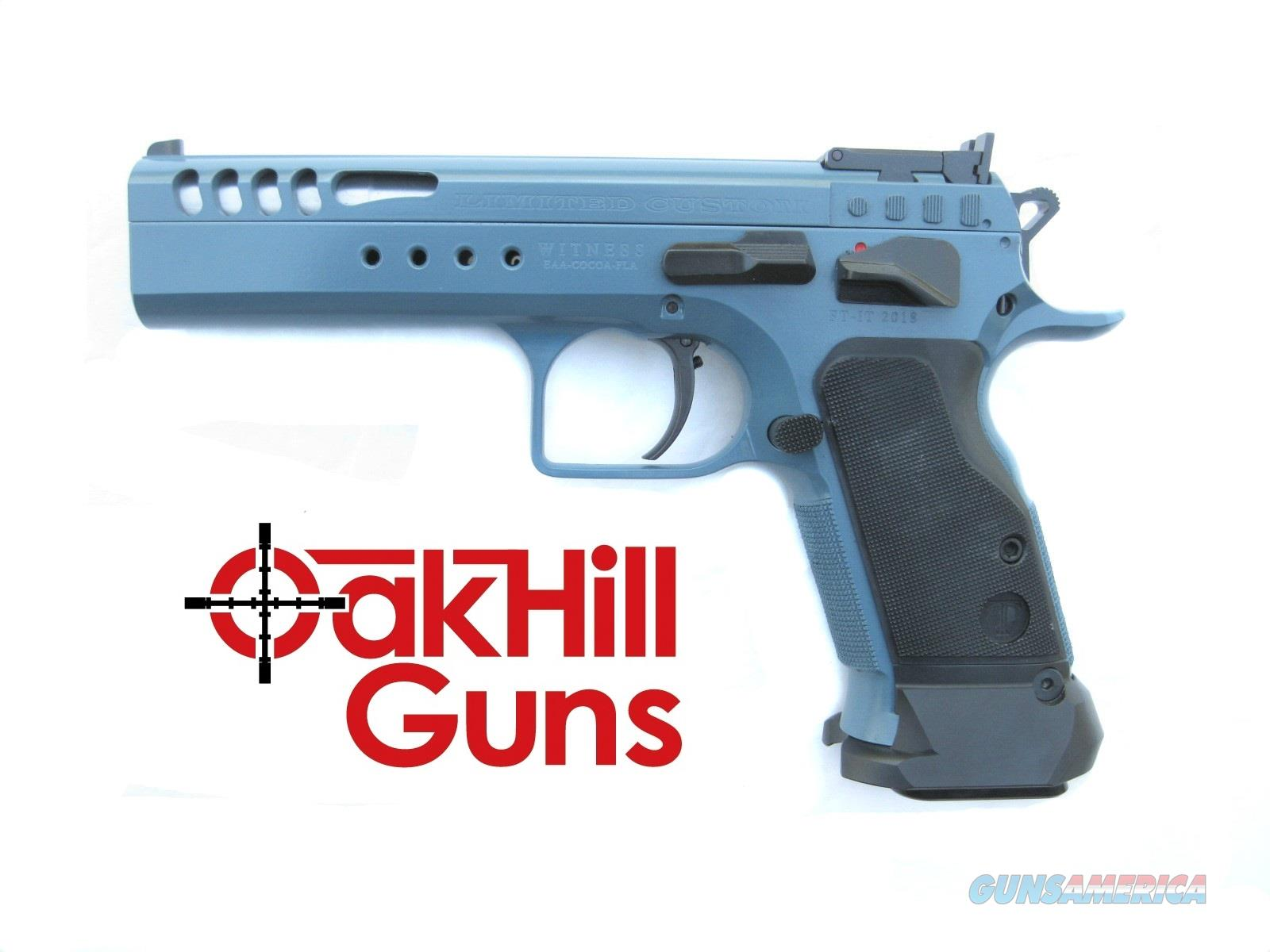 EAA Witness Limited Custom- Tanfoglio 9mm Steel Tancoat Lightened Slide 600330 *NEW*  Guns > Pistols > EAA Pistols > Other