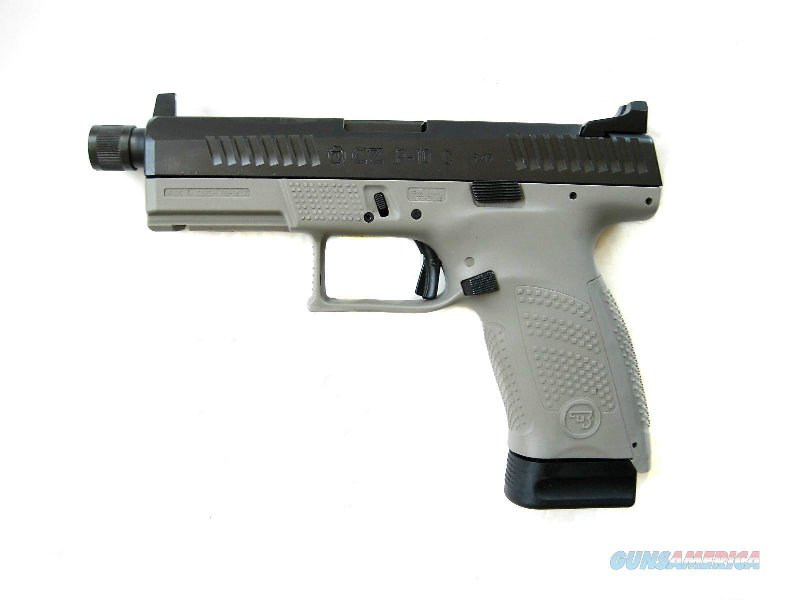 CZ P10 9mm 2019 Reversible Mag Release Threaded Suppressor Ready Urban Grey 17rd 91534 *NEW*  Guns > Pistols > CZ Pistols