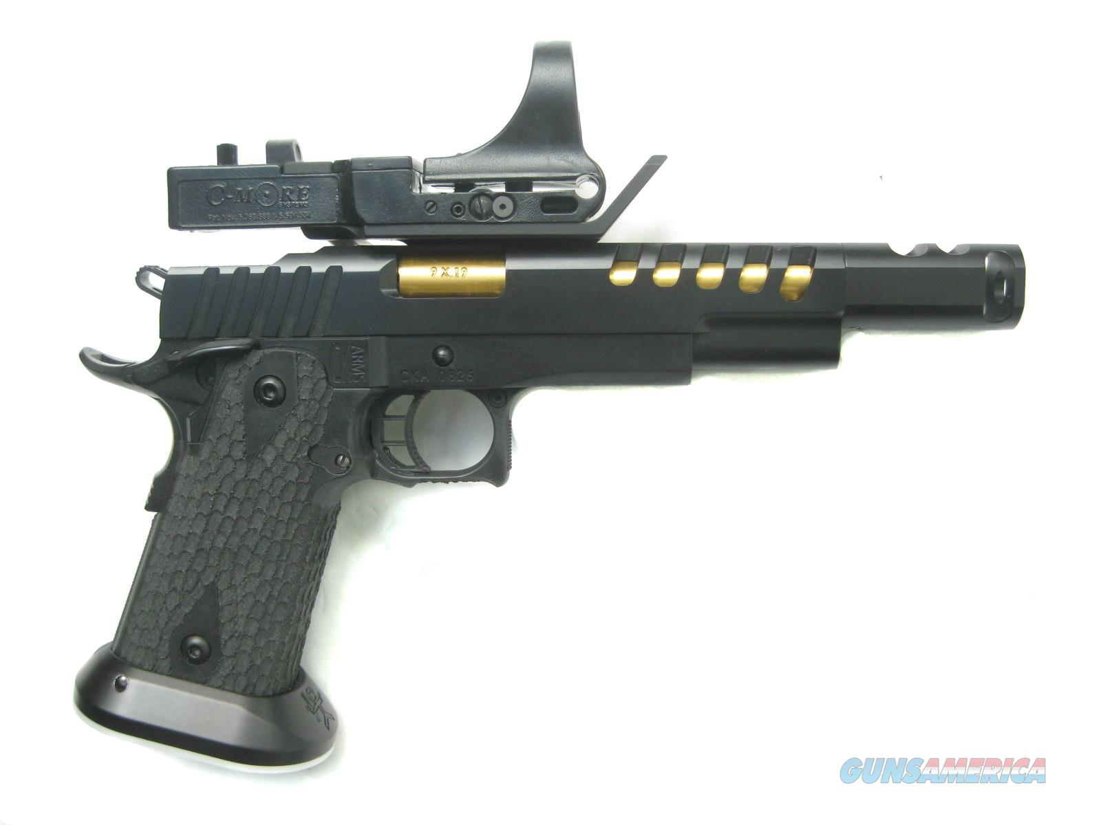 CK Arms Custom Thunder Series Open 9mm Black PVD TiCN Gold Barrel C-More *NEW*  Guns > Pistols > 1911 Pistol Copies (non-Colt)