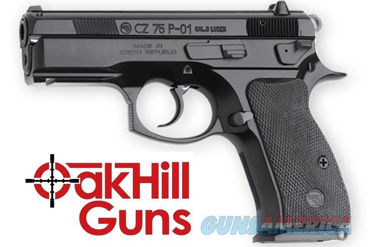 CZ-USA 75 P-01 9mm Compact LW Rail 14 Rd Decocker 91199 *NEW  Guns > Pistols > CZ Pistols