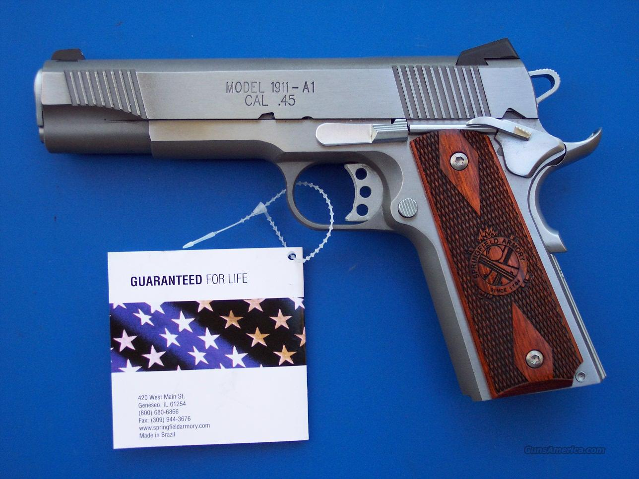 Springfield Loaded 1911 Stainless 45 acp *NEW*  Guns > Pistols > Springfield Armory Pistols > 1911 Type