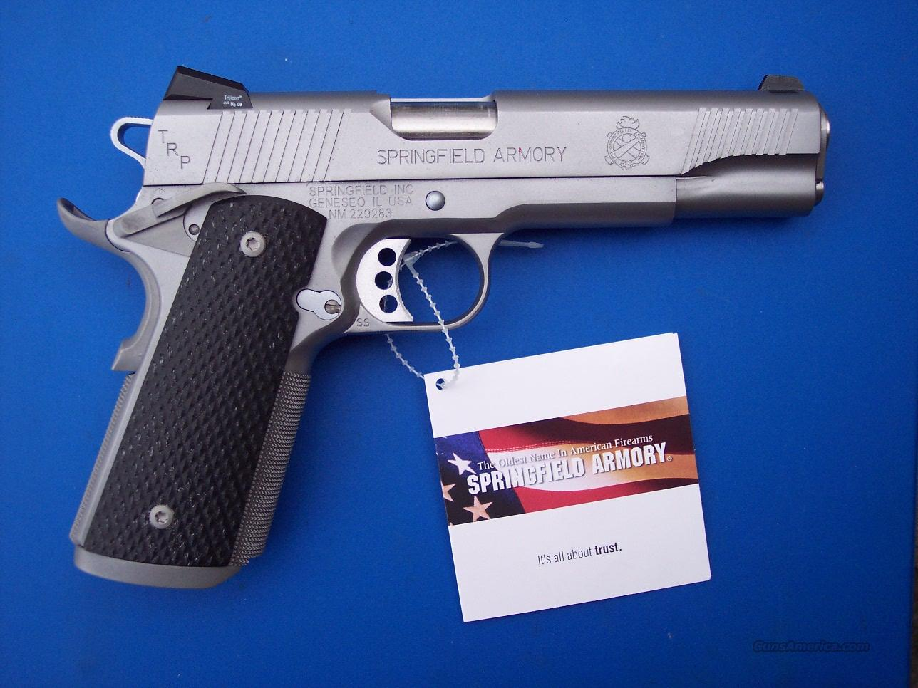 Springfield TRP Stainless 45 *NEW*  Guns > Pistols > Springfield Armory Pistols > 1911 Type