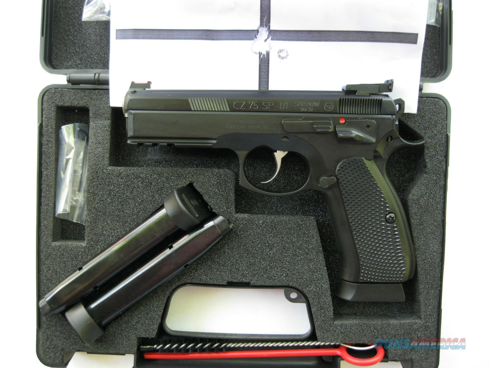 CZ Custom 75 SP-01 Shadow Target II 9mm FO 3 - 18 round Mags 91760 *NIB*  Guns > Pistols > CZ Pistols