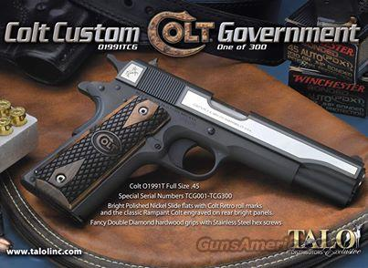 Colt 1991 .45 Talo Limited Edition 1 of 300 *NEW* 01991T Blue Nickel Retro Logo  Guns > Pistols > Colt Automatic Pistols (1911 & Var)