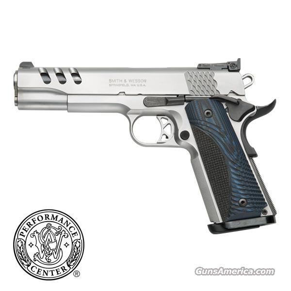 "Smith & Wesson 1911 Performance Center .45 acp *NEW* Stainless 5"" G10 Grips Lightened Slide Magwell Ambi Safety   Guns > Pistols > Smith & Wesson Pistols - Autos > Steel Frame"
