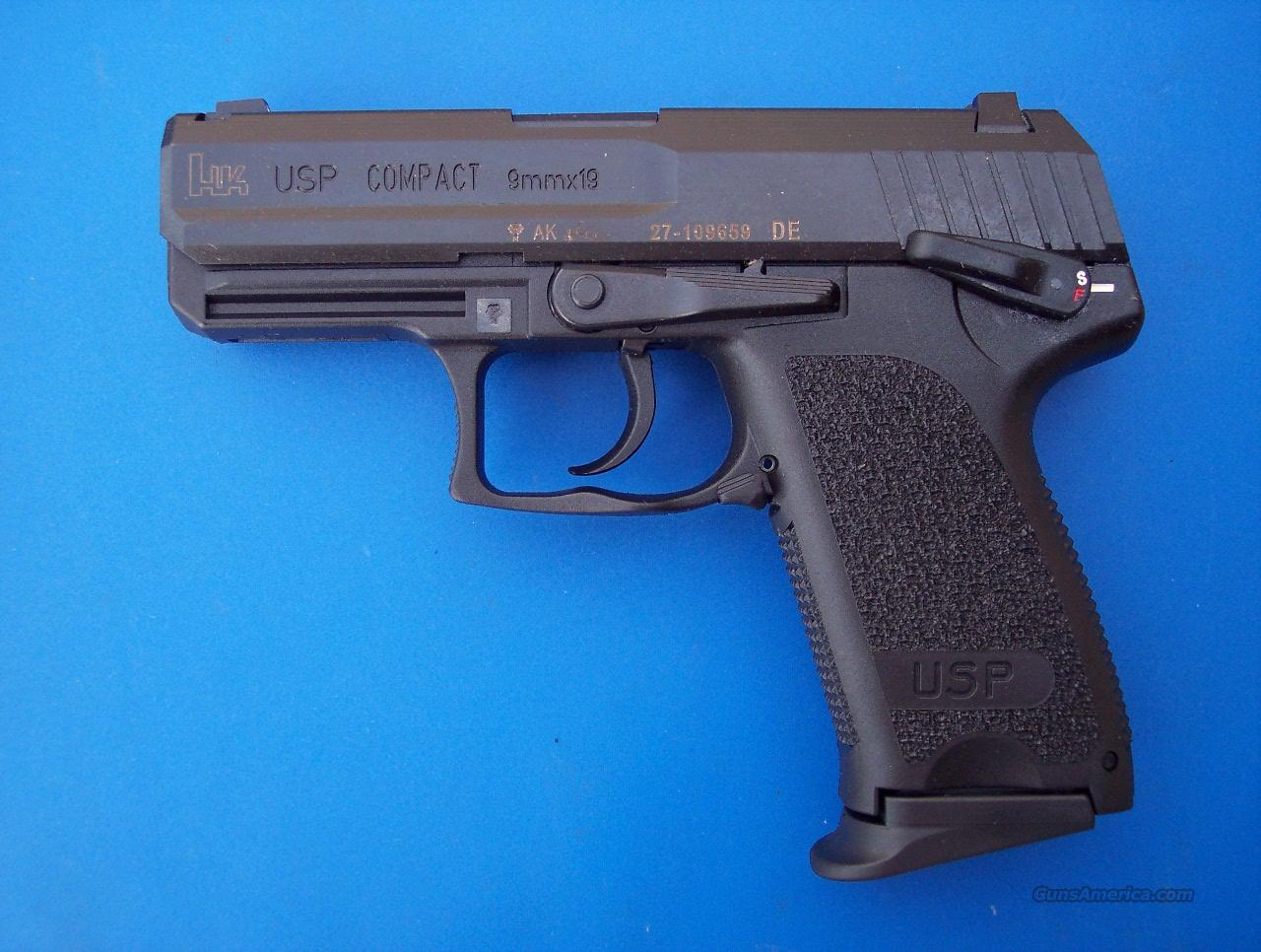 HK 9mm Heckler & Koch USP Compact 9 mm NEW 13 rd  Guns > Pistols > Heckler & Koch Pistols > Polymer Frame