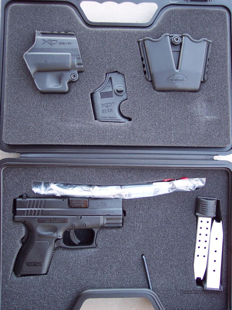 Springfield XD 9 mm Sub Compact Gear pack NEW   Guns > Pistols > Springfield Armory Pistols > XD (eXtreme Duty)