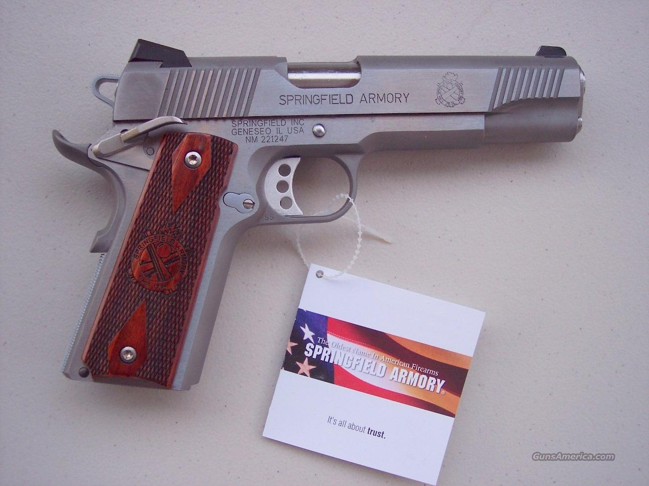 Springfield Armory 1911 .45 acp Loaded Stainless NEW  Guns > Pistols > Springfield Armory Pistols > 1911 Type