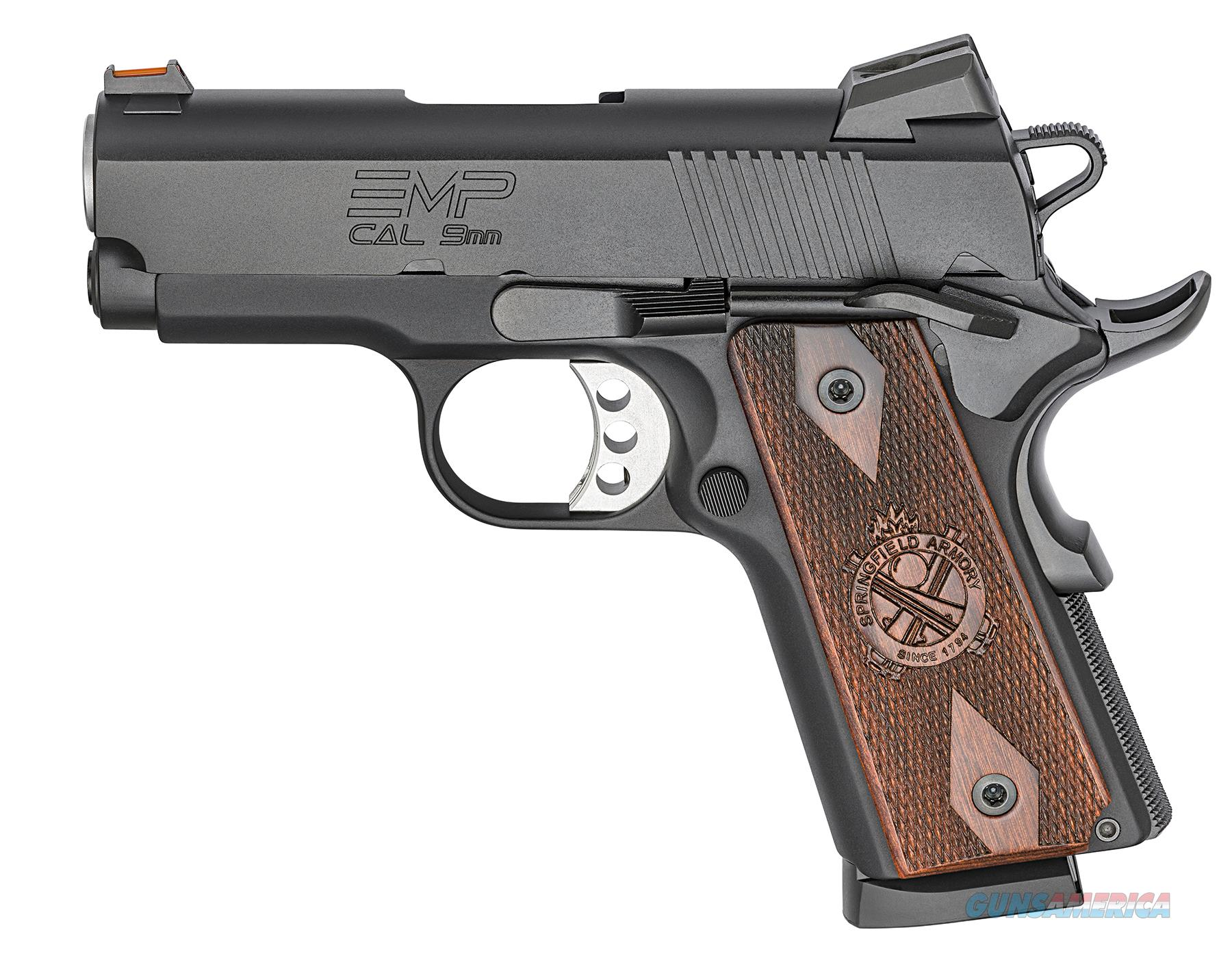 Springfield EMP 9mm Black Compact 1911 w/ 3 Mags PI9208L *NEW* PLUS - 4 Extra Mags, Holster and Mag Pouch  Guns > Pistols > Springfield Armory Pistols > 1911 Type