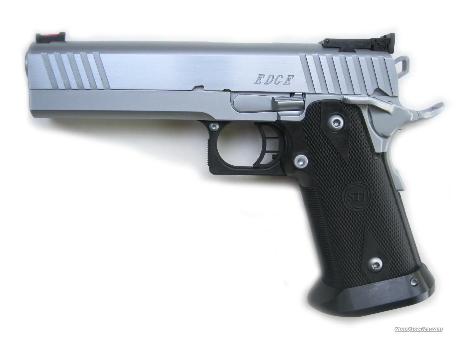 STI Edge Chrome DAWSON FO 9mm *NEW* Free Ship  Guns > Pistols > STI Pistols