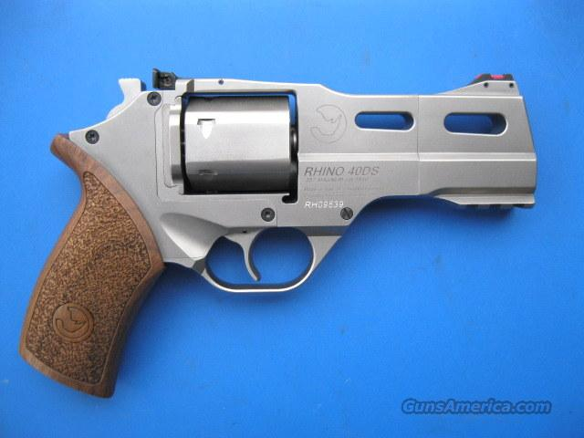 Chiappa White Rhino 40DS .357 Magnum Brushed Nickle Moon Clip *NEW*  Guns > Pistols > Chiappa Pistols & Revolvers > Rhino Models
