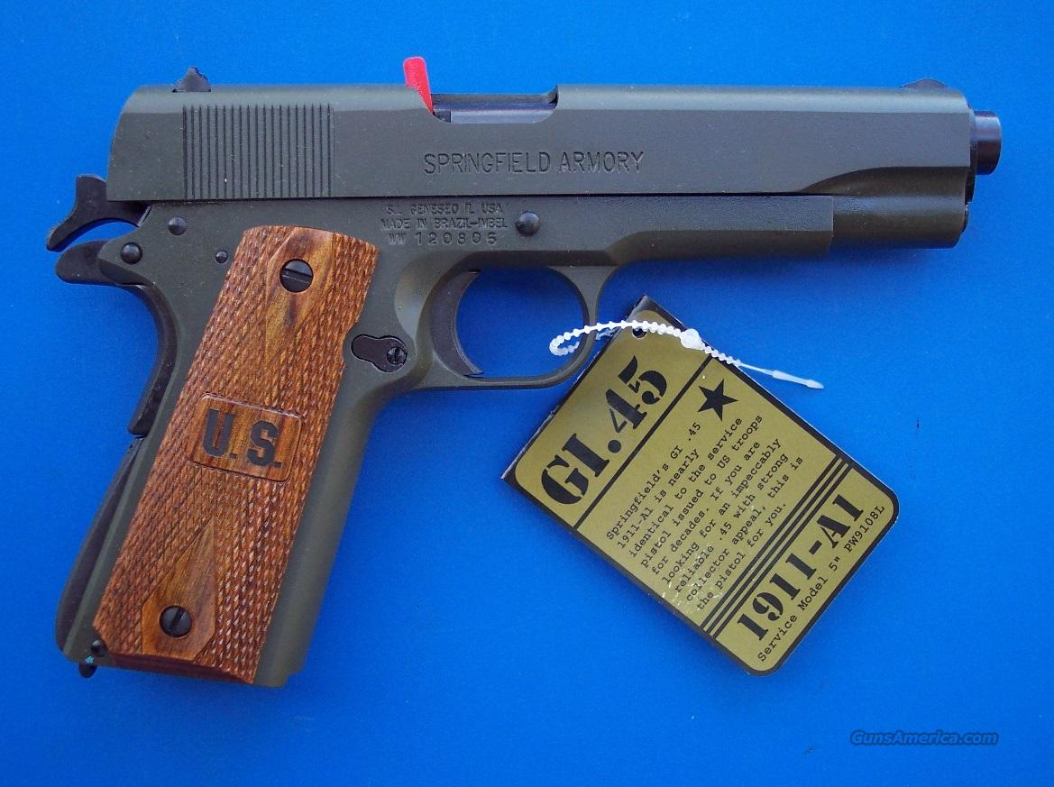 Springfield G.I. 1911 A-1 .45 acp OD Government NEW  Guns > Pistols > Springfield Armory Pistols > 1911 Type