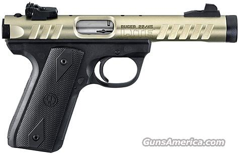 "Ruger 22/45 LITE .22 LR Threaded 4.4"" Gold *NEW*  Guns > Pistols > Ruger Semi-Auto Pistols > Mark I & II Family"