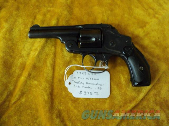 Smith & Wesson Safety Hammerless .38 S&W  Guns > Pistols > Smith & Wesson Revolvers > Pre-1945