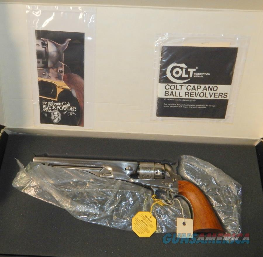 Colt Stainless Steel 2nd Gen. 1860 Army  Guns > Pistols > Colt Percussion Revolver - Modern