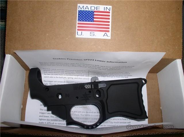 SEEKINS PRECISION BILLET LOWER SP223 NIB  Guns > Rifles > AR-15 Rifles - Small Manufacturers > Lower Only