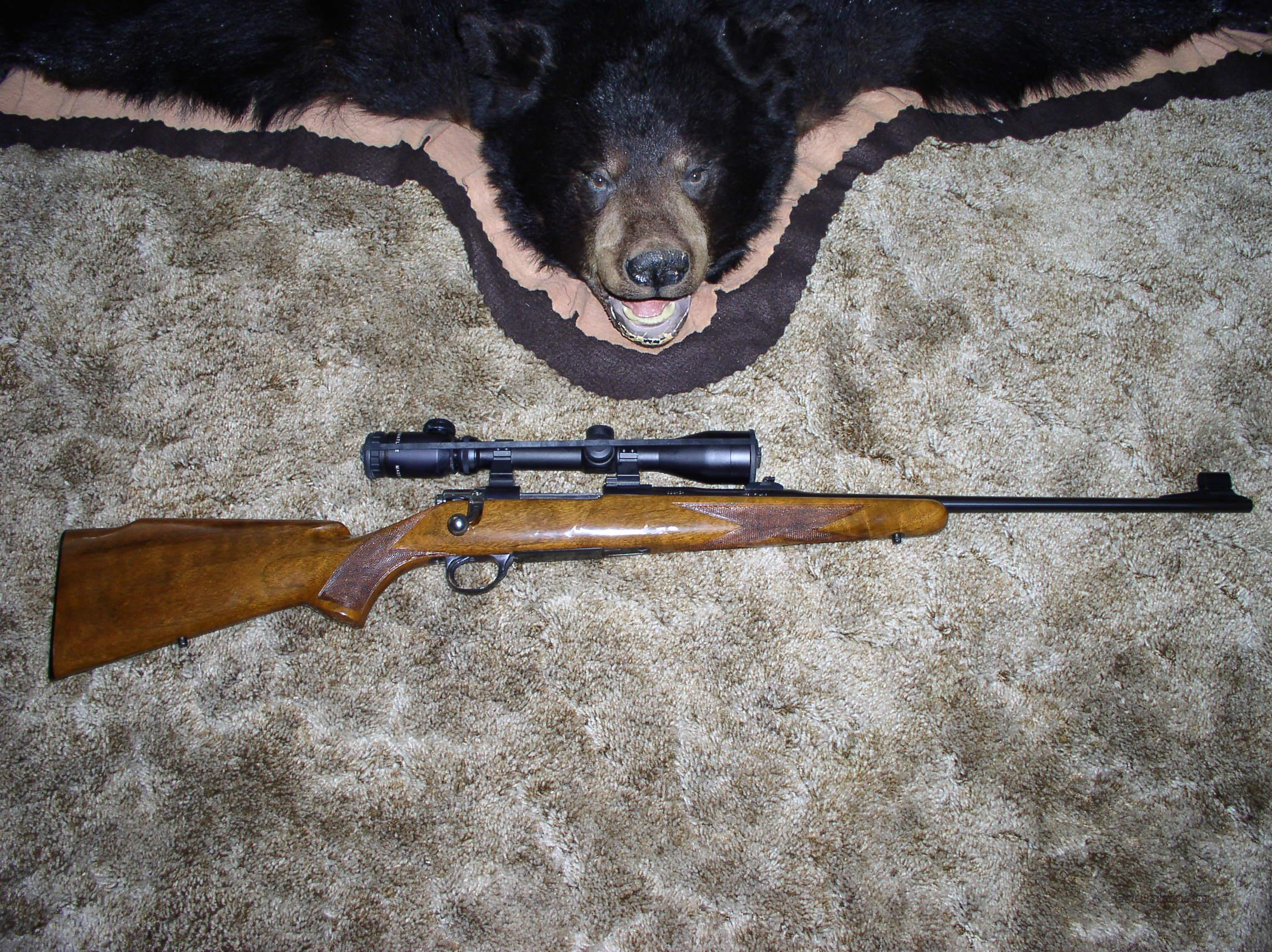 BROWNING EARLY SAFARI HIGH POWER 243  Guns > Rifles > Browning Rifles > Bolt Action > Hunting > Blue