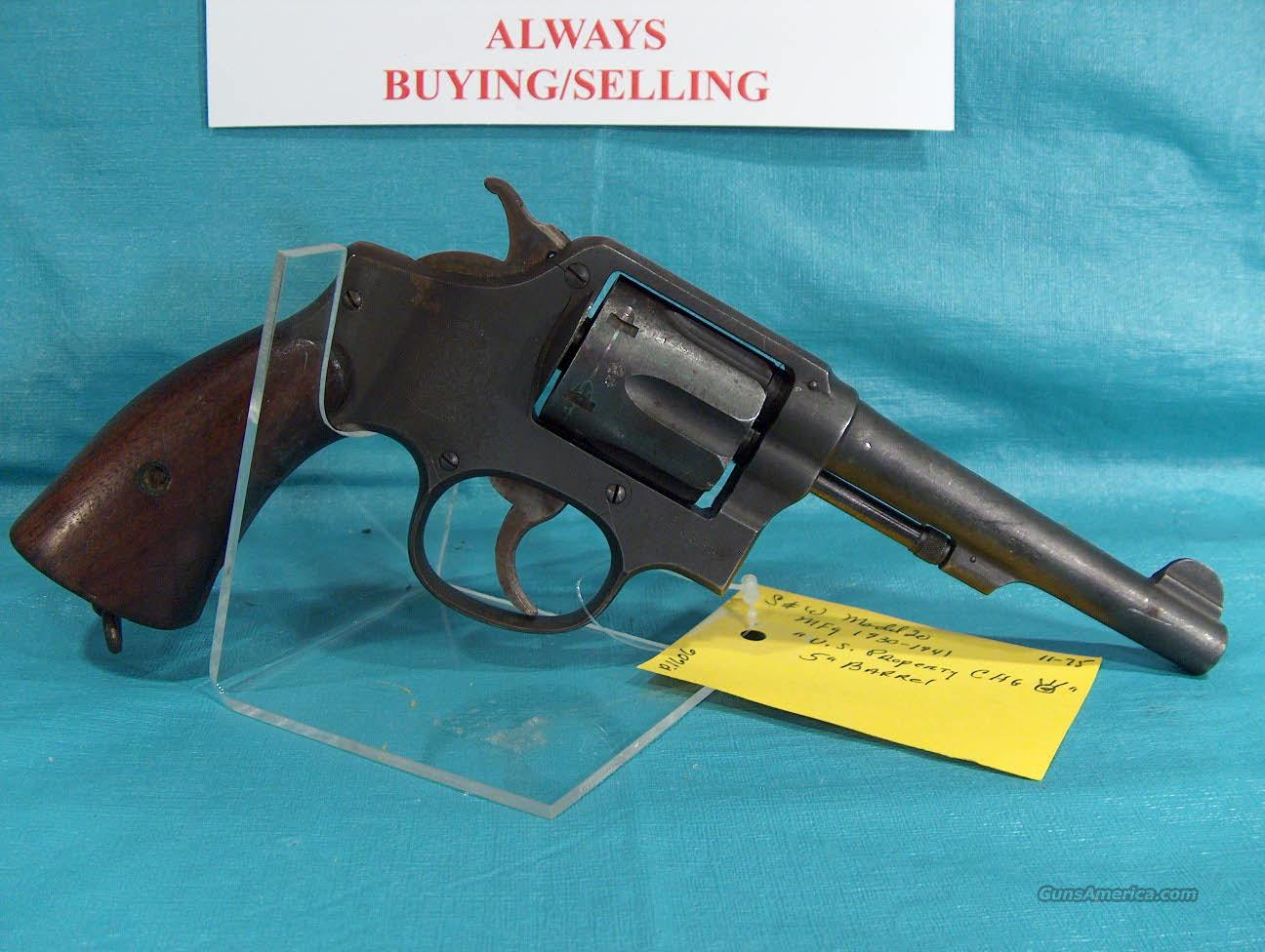 "SMITH & WESSON VICTORY MODEL  - ""US PROPERTY CHG""  - CAL. 38 S&W   Guns > Pistols > Smith & Wesson Revolvers > Pre-1945"