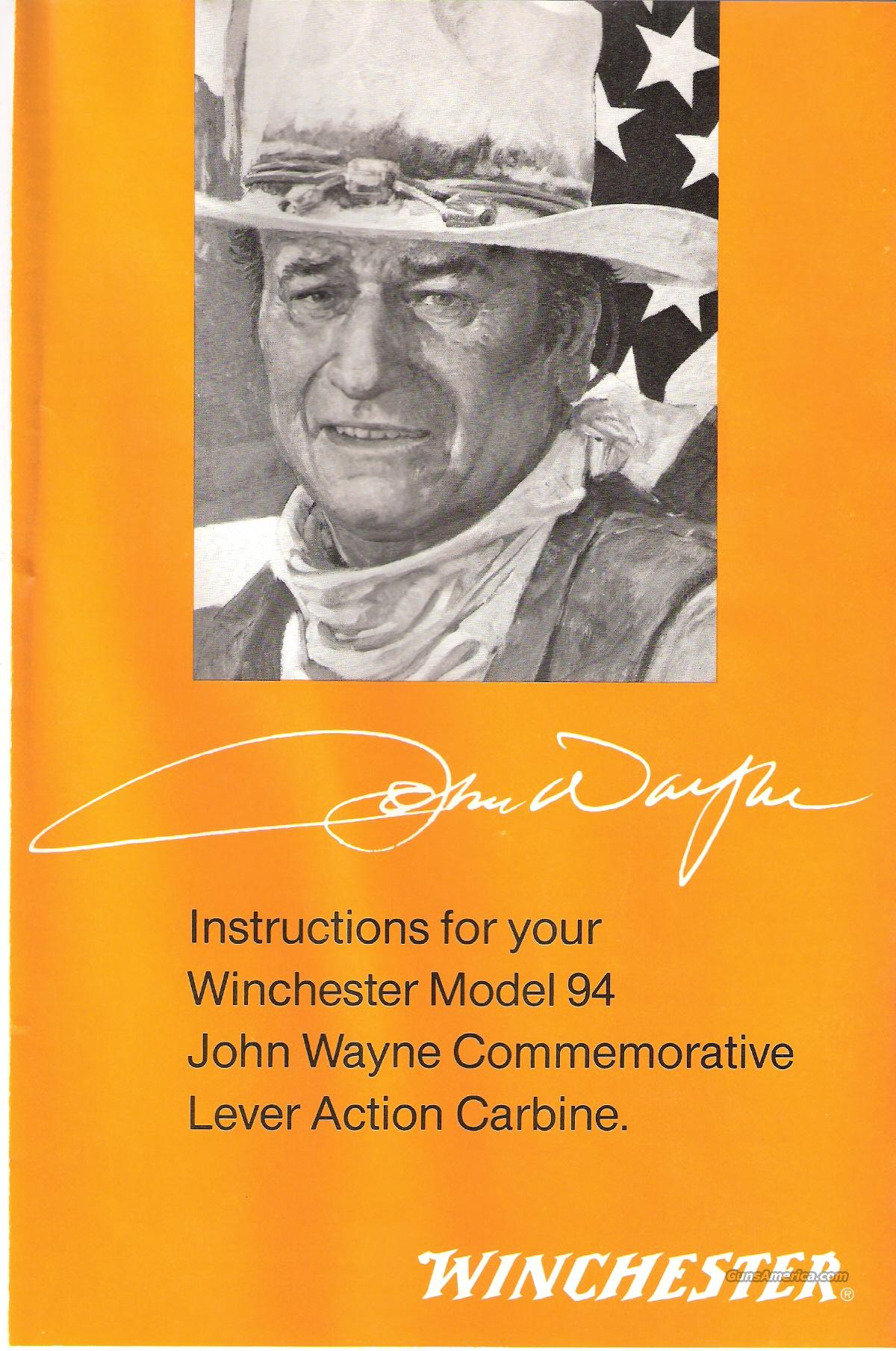 WINCHESTER- JOHN WAYNE COMMEMORATIVE - 32/40 CLA. - MODEL 94 CARBINE -   Guns > Rifles > Winchester Rifle Commemoratives