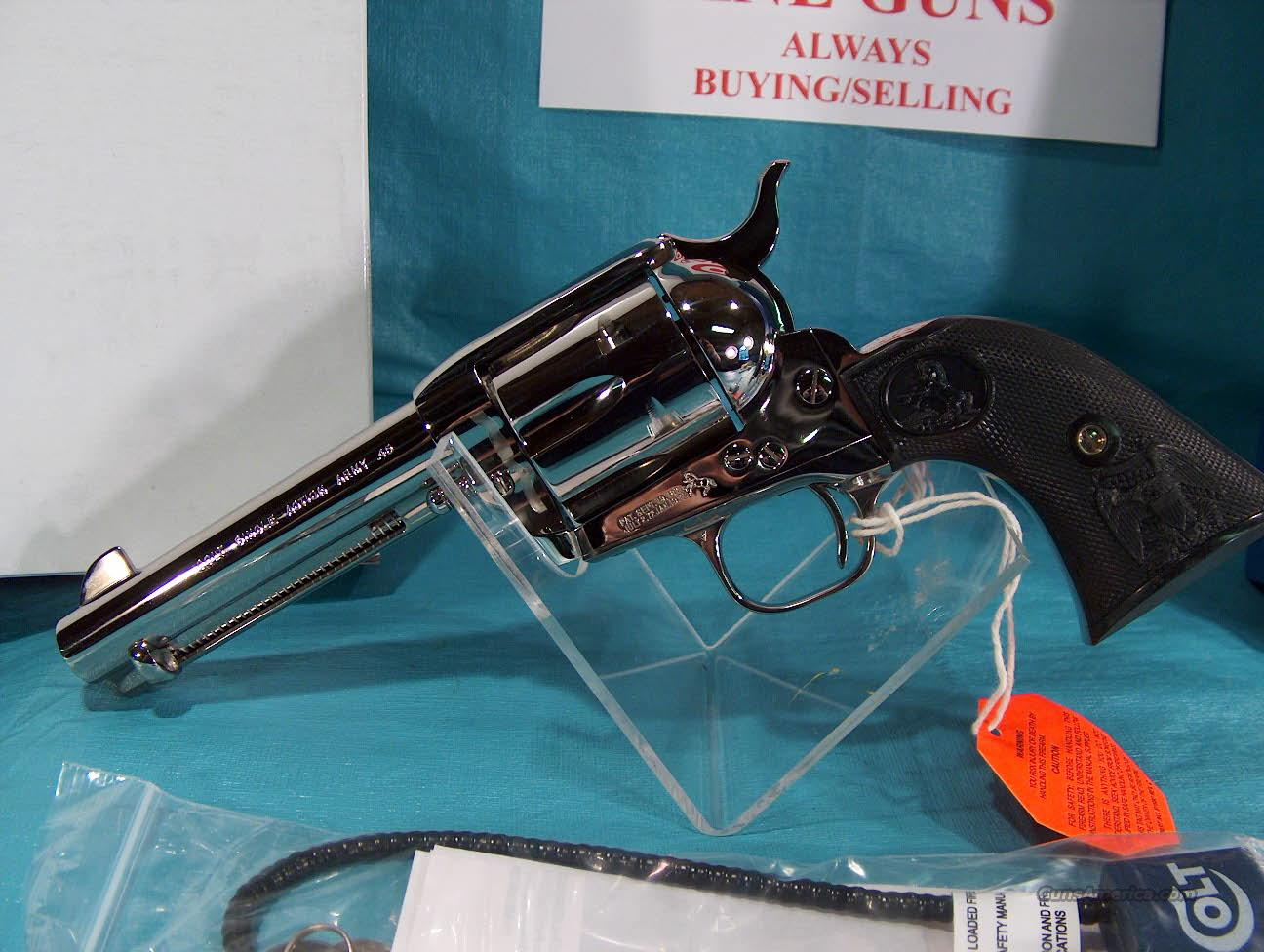 "COLT - NICKEL SINGLE ACTION ARMY - MODEL P1841 - 4.75"" BARREL - NICKEL FINISH - 45 COLT CAL  Guns > Pistols > Colt Single Action Revolvers - 3rd Gen."