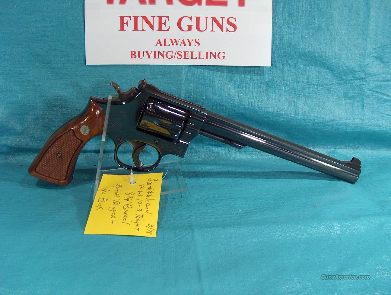 "SMITH AND WESSON MODEL 14-3 TARGET 8 3/8"" BARREL  Guns > Pistols > Smith & Wesson Revolvers > Full Frame Revolver"