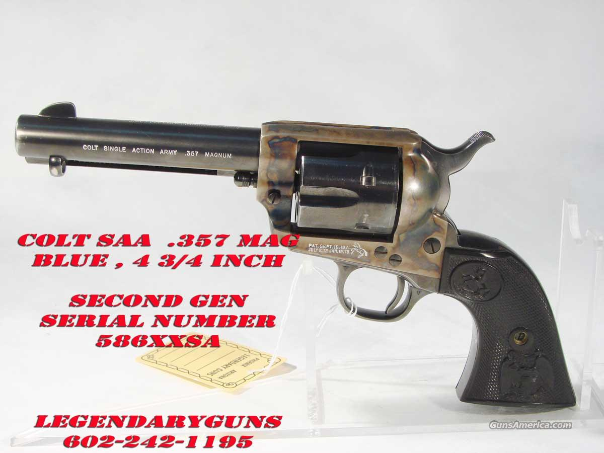 Colt saa serial numbers 2nd generation 1
