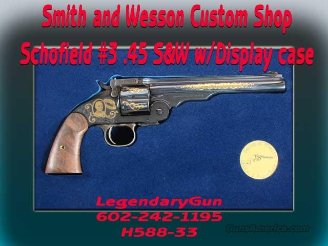 S&W Schofield #3 Custom Shop .45 S&W  Guns > Pistols > Smith & Wesson Pistols - Replica