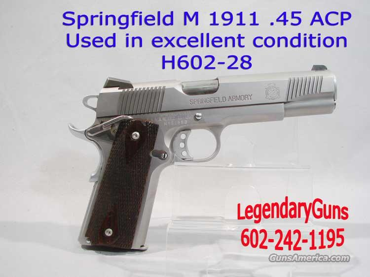 Springfield M-1911 Stainless Government .45acp  Guns > Pistols > Springfield Armory Pistols > 1911 Type